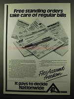 1984 Nationwide Bank Ad - Free Standing Orders