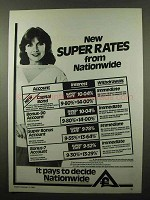 1984 Nationwide Bank Ad - New Super Rates