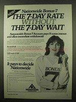 1984 Nationwide Building Society Ad - 7-Day Rate