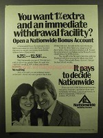 1982 Nationwide Building Society Ad - Withdrawal