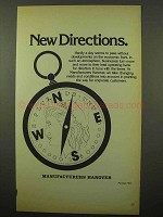 1981 Manufacturers Hanover Ad - New Directions