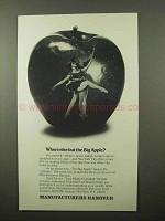 1980 Manufacturers Hanover Ad - Where But Big Apple