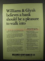 1978 Williams & Glyn's Bank Ad - Pleasure To Walk Into