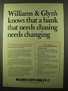 1978 Williams & Glyn's Bank Ad - Chasing Changing