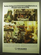 1977 Sun Alliance Insurance Group Ad - Bring Problems