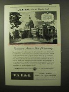 1946 U.S.F. & G. Insurance Ad - Mississippi Opportunity