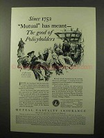 1930 Mutual Casualty Insurance Ad - Good Policyholders