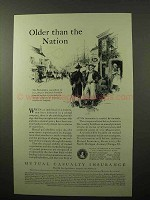 1929 Mutual Casualty Insurance Ad - Older Than Nation