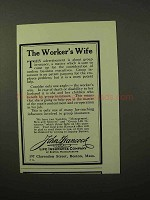 1928 John Hancock Life Insurance Ad - Worker's Wife
