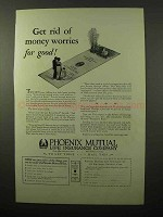 1927 Phoenix Mutual Life Insurance Ad - Money Worries