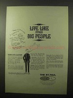 1966 The St. Paul Insurance Ad - Live Like Big People