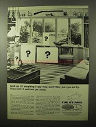 1966 The St. Paul Insurance Ad - List Your Living Room