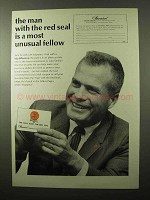 1966 Investors Syndicate Life Insurance Ad - Red Seal