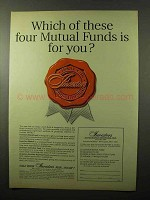 1966 Investors Mutual Funds Ad - Which of These Four
