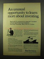 1966 Bache & Co. Brokers Ad - Unusual Opportunity
