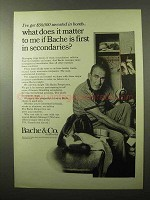 1966 Bache & Co. Brokers Ad - First in Secondaries