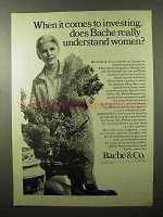 1966 Bache & Co. Brokers Ad - Understand Women
