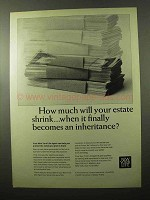 1966 New York Life Ad - How Much Will Estate Shrink