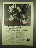 1966 New York Life Ad - Death of Shareholder