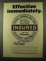 1966 Insured Savings and Loan Associations Ad!