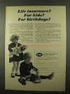 1966 Insurance Company of North America INA Ad - Kids