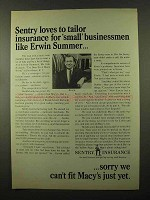 1966 Sentry Insurance Ad - Loves To Tailor Insurance