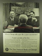 1966 The First National Bank of Chicago Ad - Paper