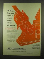 1966 Hartford Steam Boiler Inspection and Insurance Ad - Inspection