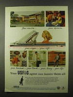 1966 USF&G Insurance Ad - Your Mansion Your Expansion