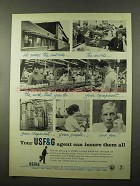 1966 USF&G Insurance Ad - He Covers The Outside
