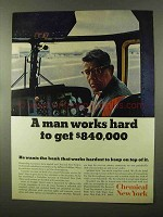 1966 Chemical New York Ad - A Man Works Hard