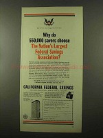 1966 California Federal Savings and Loan Association Ad