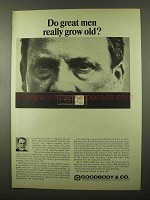 1966 Goodbody & Co. Brokers Ad - Louis Pasteur