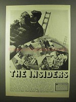 1966 Carte Blanche Card Ad - The Insiders - Golden Gate Bridge