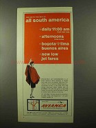 1966 Avianca Airline Ad - All South America