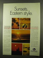 1966 Eastern Airline Ad - Sunsets. Eastern Style