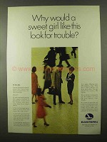 1966 Eastern Airline Ad - Sweet Girl Look For Trouble