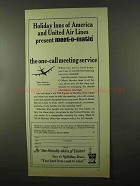 1966 United Air Lines Ad - Holiday Inns of America