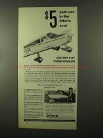 1966 Piper Cherokee Plane Ad - Puts You in Pilot's Seat