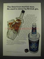 1966 Calvert Gin Ad - Used to Swear by British Gin