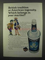 1966 Calvert Gin Ad - Tradition American Ingenuity