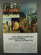 1966 TWA Airline Ad - Europe Comes Out of Hiding
