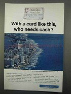 1966 American Express Ad - Who Needs Cash?