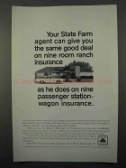 1966 State Farm Insurance Ad - Nine Room Ranch