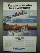 1966 Evinrude Sportsman Boat Ad - Man Has Everything
