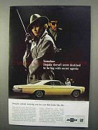 1966 Chevy Impala SS Sport Coupe Ad - Secret Agents