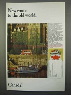 1966 Canada Tourism Ad - New Route to the Old World