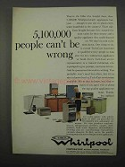 1966 Whirlpool Appliances Ad - 5,100,000 Can't Be Wrong