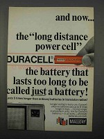 1966 Mallory Duracell Batteries Ad - Long Distance