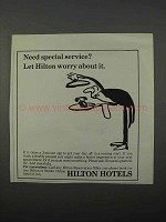 1966 Hilton Hotels Ad - Need Special Service?